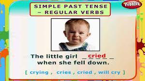 simple past tense regular verbs english grammar exercises for