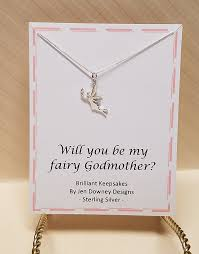 godmother necklace will you be my fairy godmother sterling silver