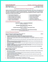 Best Information Technology Resume Templates by Cyber Security Resume Must Be Well Created To Get The Job Position