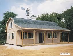 hi loft porch barns miller storage barns
