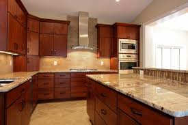 cherry cabinets with light granite countertops top cherry kitchen cabinets black granite