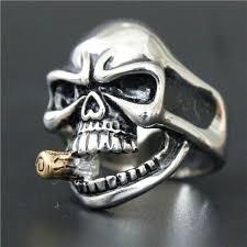 cool skull rings images 2017 cool skull bullet ring 316l stainless steel mens silver jpg