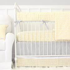 Gray And Yellow Crib Bedding S Yellow Gray Bumperless Crib Bedding Caden