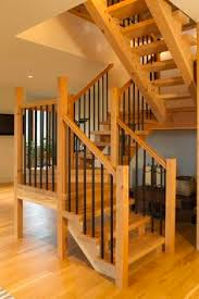 Quarter Turn Stairs Design Quarter Turn Staircase Lateral Stringer Wooden Steps Metal
