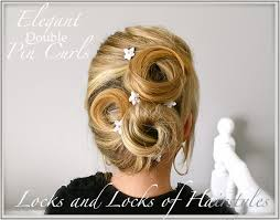 hairstyles pin curls locks and locks of hairstyles quick and easy video tutorials