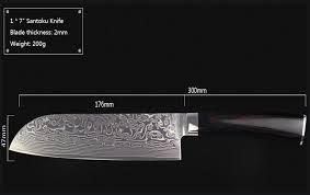Japanese Kitchen Knives Uk Japanese Damascus Steel Kitchen Knives Set 3 With Block New Vg10 8