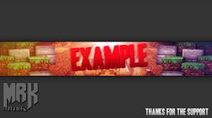 minecraft youtube banner template free download photoshop cc