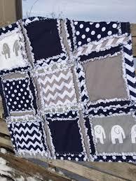 Chevron Boy Crib Bedding Elephant Crib Bedding Navy Blue Gray Nursery Elephant Baby