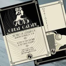 Gatsby Invitations 100 Gatsby Invitations Great Gatsby Style Wedding