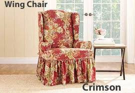 Wing Chair Slipcovers Wing Chair Slipcover W Ballad Bouquet Floral Print Design