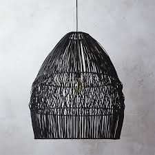 Black Hanging Light Fixture Archer Black Pendant Light In Pendant Lights Reviews Cb2