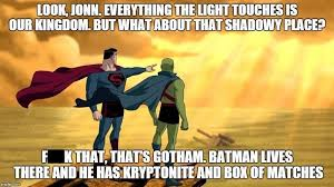 Everything Meme - everything the light touches superheroes superheroes batman