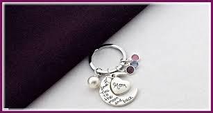 personalized birthstone keychains birthstone keychain personalized keychain silver
