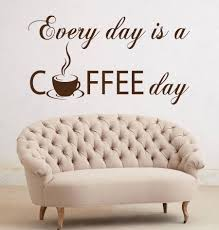 high quality shop wall decals quotes buy cheap promotion self adhesive wall decals quote every day coffee vinyl sticker kitchen cafe