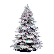 vickerman flocked alaskan tree with dura lit 300 4 5