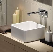 caroma cube 320 above counter vanity basin 0 tap hole bathware