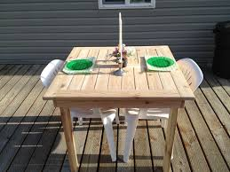 Make Your Own Wood Patio Furniture by Ana White Modified Outdoor Dining Table Diy Projects