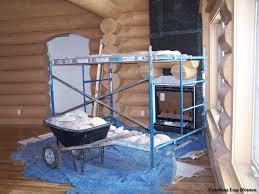 log home fireplace cowboy log homes