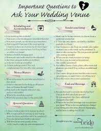 things to plan for a wedding questions to ask a wedding venue wedding planning tips