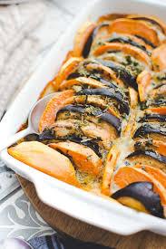 comment cuisiner aubergine gratin de patate douce aubergine et gorgonzola geekette cuisine