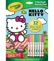 crayola hello kitty coloring u0026 activity pad joann