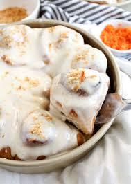 carrot cake cinnamon rolls katiebird bakes