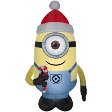 Home Depot Inflatable Christmas Decorations Minions Christmas Inflatables Outdoor Christmas Decorations