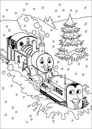 thomas friends coloring pages snow coloringstar