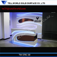 Small Salon Reception Desk by China Fancy Beauty Curved Small Hair Salon White Reception Desk