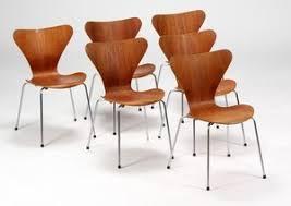 Arne Jacobsen Dining Chairs Jacobsen Series 7 Dining Chairs Model 3107 Teak 6