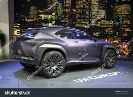 lexus ux model lexus ux crossover concept car displayed stock photo 494792968