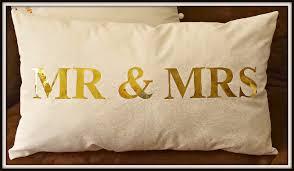 Deco Foil Create A Mr U0026 Mrs Deco Foil Pillow Therm O Web