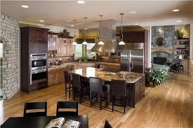 open kitchen designs with island wooden island and wooden floor for open kitchen design for