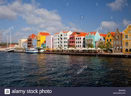 colorful dutch colonial architecture in the buildings in the punda