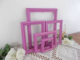 radiant orchid picture frame set shabby chic photo wall gallery