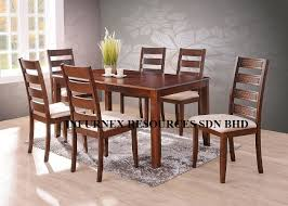 6 Chair Dining Room Table by Solid Rubberwood Dining Set 1 6 Dining Table Dining Chair Buy