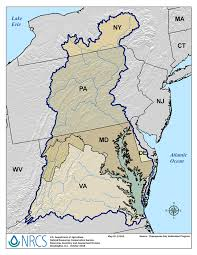 Maryland On A Map Chesapeake Bay Watershed Nrcs