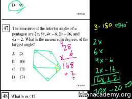 What Are The Interior Angles Of A Hexagon Missing Angles Ca Geometry Video Khan Academy