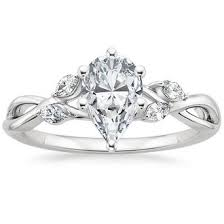 teardrop engagement rings pear shaped diamond engagement rings brilliant earth