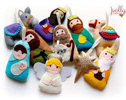felt nativity etsy