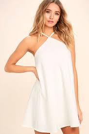 shift dress cool white dress shift dress halter dress 44 00