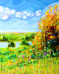 Abstract Landscape Painting by Mandy Budan A Canadian Abstract Landscape Painter