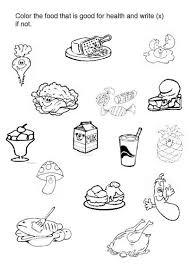 12 best images of healthy unhealthy food worksheet healthy food
