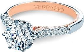 two engagement ring verragio pave two tone engagement ring v 938r7 tt
