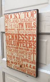 Tennessee Vols Home Decor University Of Tennessee Print On Wood Sign Ut Vols Ut Football