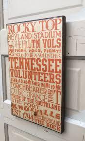 university of tennessee print on wood sign ut vols ut football