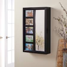 Wall Furniture Ideas Decorating The 24 Illuminated Wall Mount Jewelry Armoire For Home