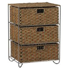 Seagrass Bathroom Storage Household Essentials Woven Seagrass Rattan 3 Drawer