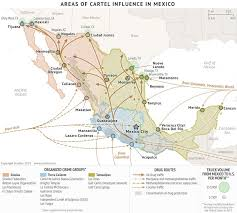 Mexican State Map by Visualizing Mexico U0027s Drug Cartels A Roundup Of Maps Storybench
