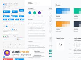 symbols u0026 styleguides a template for sketch freebiesbug